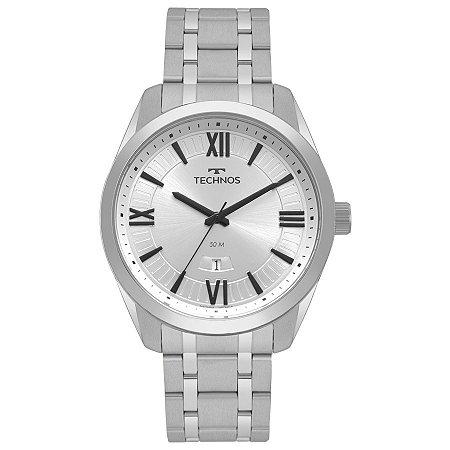 Relógio Technos Masculino Steel Analógico 2115MSQ/1K