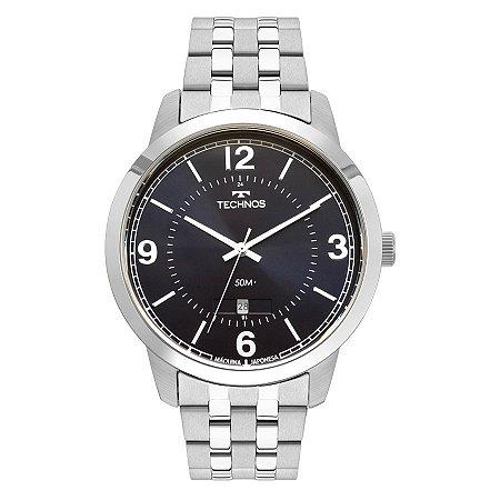 Relógio Technos Masculino Classic Steel Analógico 2115MTG/1A