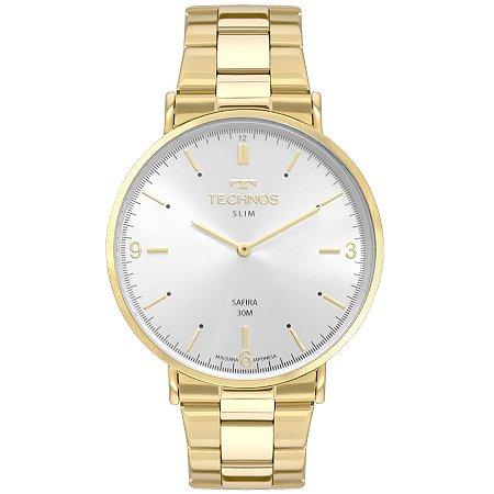 Relógio Technos Unissex Classic Slim Analógico 2025LTP/4K