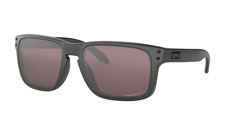 Óculos de Sol Oakley Masculino Holbrook Steel OO9102-B5 55 Polarizado