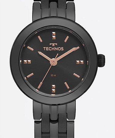 Relógio Technos Feminino Elegance Boutique Preto 2035MQN4P