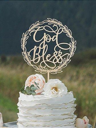Topo de Bolo - God Bless