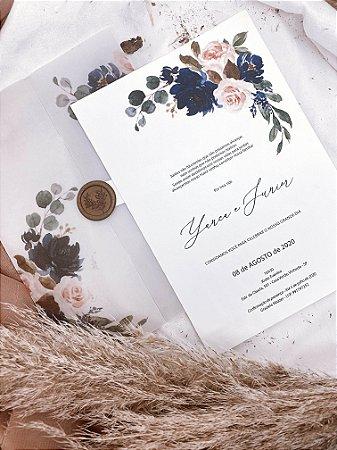 Convite Classic Blue