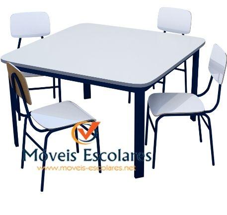 Conjunto Escolar 80×80 4 lugares