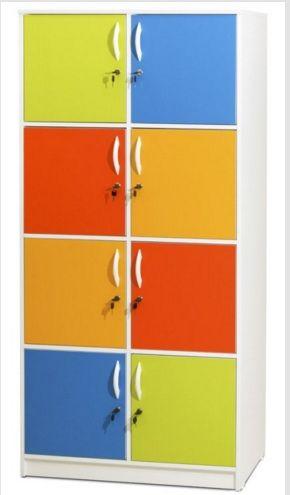 Armário Professor/Aluno 8 Portas Coloridas