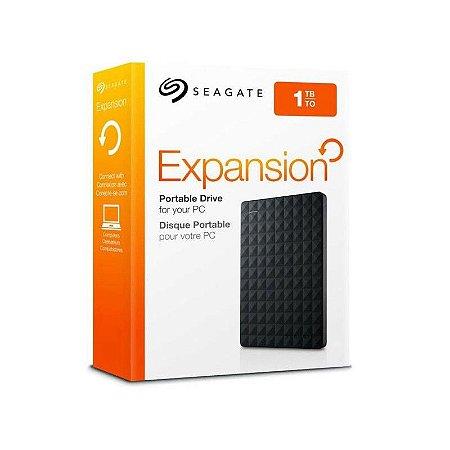 HD Seagate Externo de 1TB,  USB 3.0