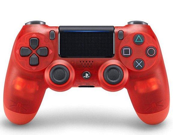 Controle dualshock4 transparente vermelho para PS4 ( padrão NOVO )