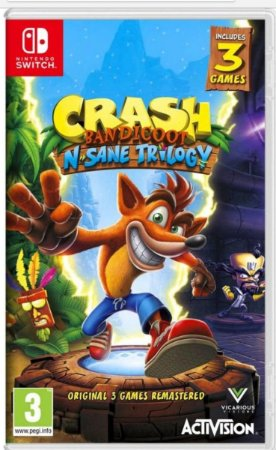 Crash Bandicoot n sane trilogy para Nintendo Switch