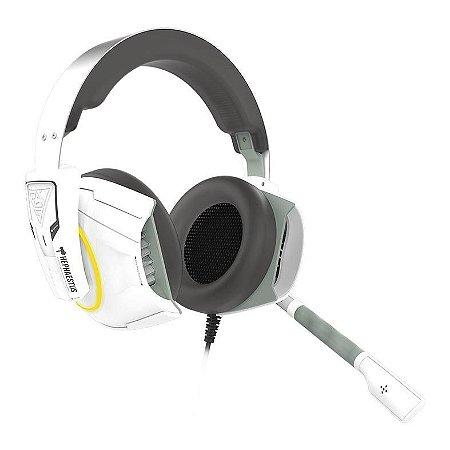 HEADSET GAMER GAMDIAS HEPHAESTUS E1 BRANCO RGB PC/PS4/XBOX ONE