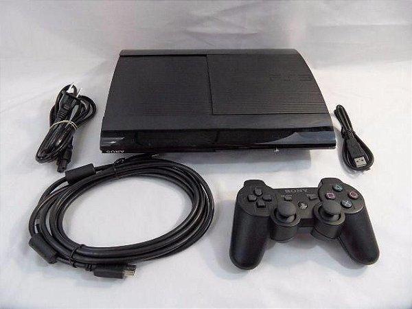 Playstation 3 Super Slim semi novo + 100 Jogos no HD 250GB