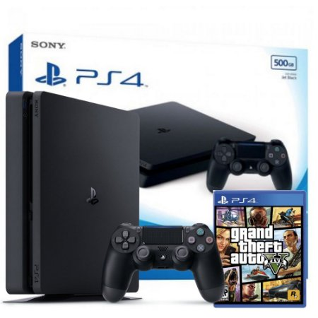 Playstation 4 SLIM 500GB c/ GTA 5