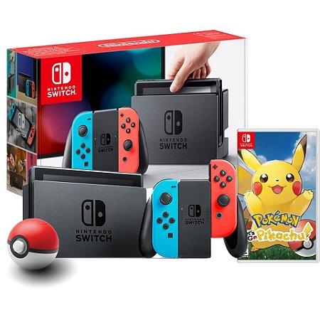 Nintendo Switch NEON + Pokeball Plus + Pokémon Let's Go Pikachu