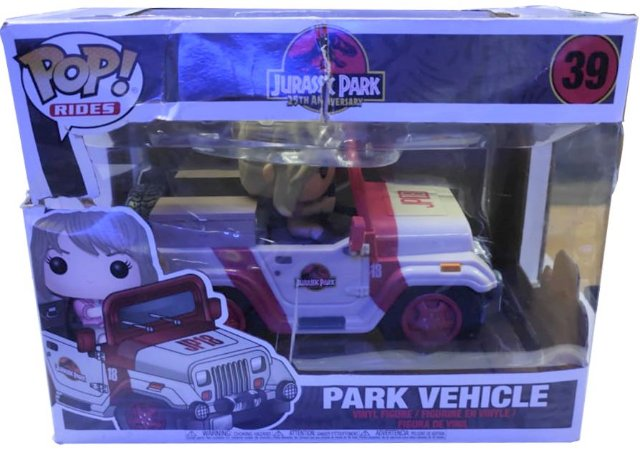 Funko Pop Jurassic Park - Park Vehicle 39 ( CAIXA AMASSADA )