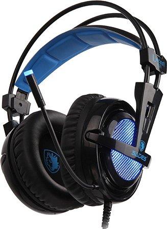 Fone Headset Gamer 7.1 RGB USB Sades Locust Plus PS4 / PC
