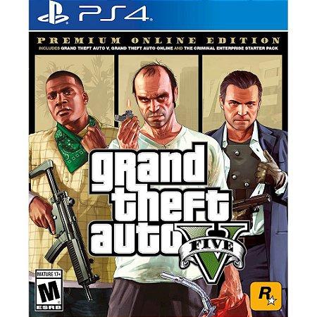 GTA 5 Premium Online Edition para PS4