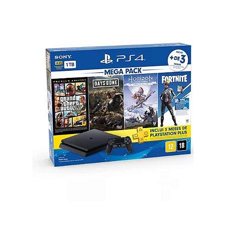Playstation 4 Slim 1tb C/4 Jogos Mega Combo