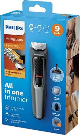 Aparador De Pelos Multigroom Philips - Mg3748/15 Bivolt