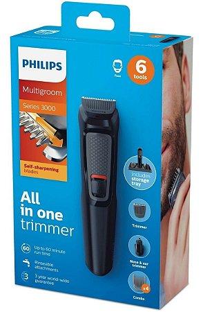 Aparador De Pelos Multigroom Philips - Mg3711/15 Bivolt