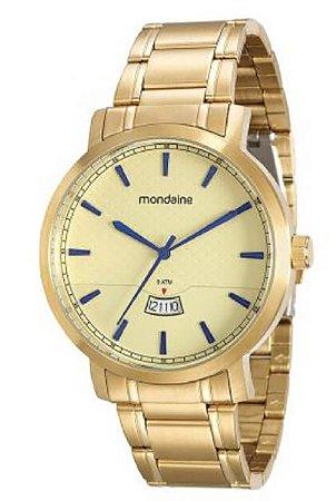 799ca18d56c ATACADO Relógio Masculino Dourado Mondaine Analógico 94948GPMVDA1 ...