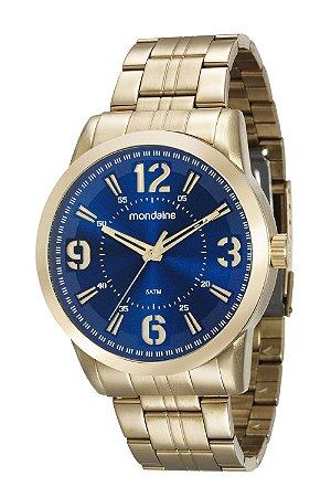 d6cec9f586f ATACADO Relógio Masculino Mondaine Dourado Analógico 99087GPMVDE1 ...