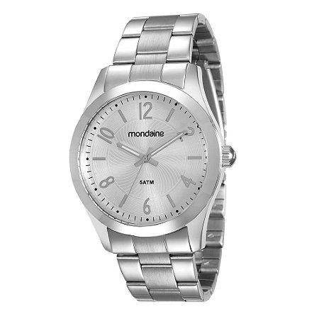 6361144a24b ATACADO Relógio Feminino Prateado Mondaine Analógico 78680L0MVNA1 ...