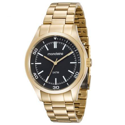 b20ffe530a9 ATACADO Relógio Masculino Mondaine Dourado Analógico 99156GPMVDA1 ...