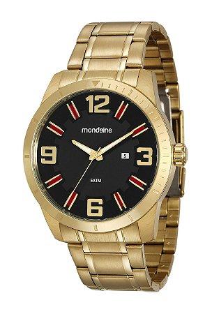 29c9d15e6fa ATACADO Relógio Masculino Mondaine Dourado Analógico 99176GPMVDA1 ...
