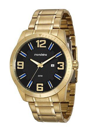 e5e4ea2910 ATACADO Relógio Masculino Mondaine Dourado Analógico 99176GPMVDA2 ...