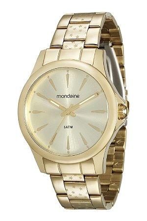2a551ac7247 ATACADO Relógio Feminino Mondaine Dourado Analógico 78705LPMVDA1 ...