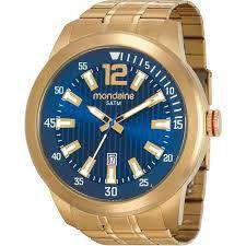 d9fb7818401 ATACADO Relógio Masculino Mondaine Dourado Analógico 99202GPMVDA2 ...