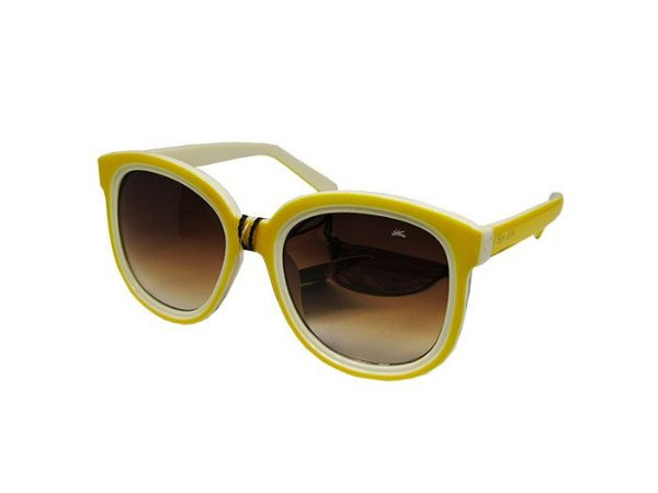 ATACADO Óculos de Sol Sun John Feminino Brasil Branco/Amarelo