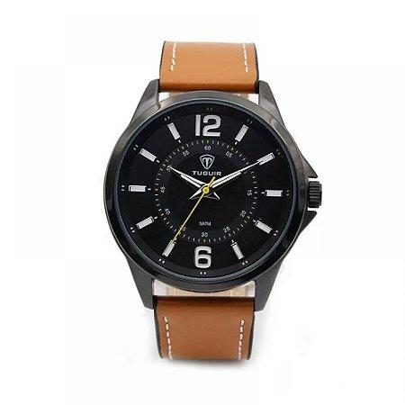 Relógio Masculino Tuguir Analógico 5043 - Preto e Bege