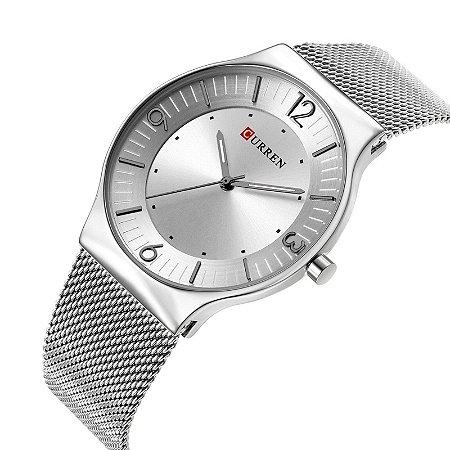 Relógio Feminino Curren Analógico 8304 - Prata