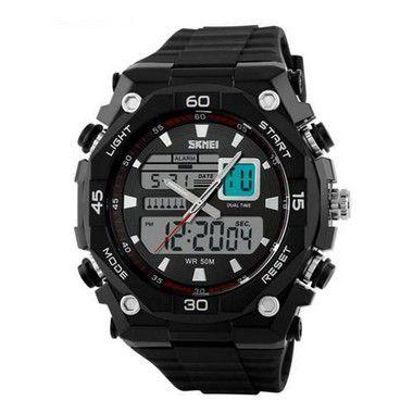 Relógio Masculino Skmei 1092 preto e prata