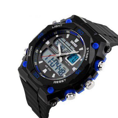 Relógio Masculino Skmei 1092 preto e azul