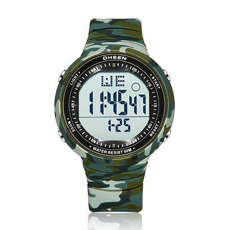 Relógio Unissex Ohsen Digital 1812 - Verde Camulflado