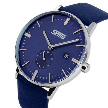 Reogio masculino Skmei 9083 - Azul e Prata