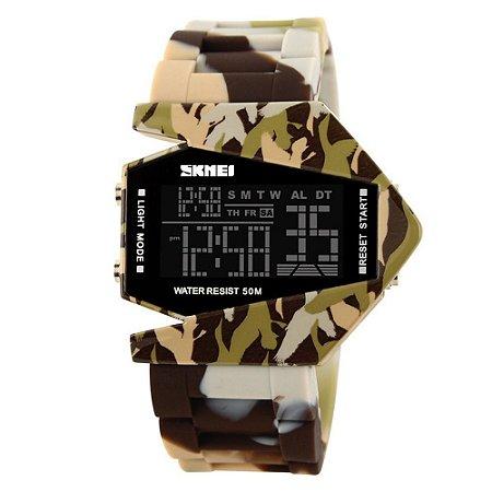 Atacado Relógio Masculino Skmei Digital 0817 - Marrom Camuflado