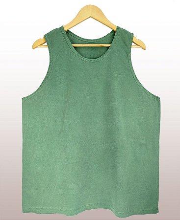 Regata estonada verde - Sendo mais de 20 peças, usar o cupom (5000) para o valor de atacado de R$ 20,90 por depósito.