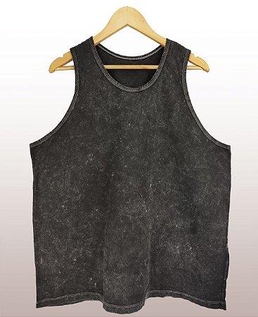 Regata marmorizada preta - Sendo mais de 20 peças, usar o cupom (5000) para o valor de atacado de R$ 23,90 por depósito.