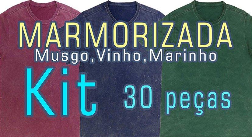 KIT 30pçs(Tingidas a seco e Marmorizado Musgo, Vinho e Marinho ferrugem)(P,M,G,GG). Você escolhe as cores, modelos e tamanhos. Usar cupom (5000) para valor no atacado de R$ 19,90 a unidade por Depósito.