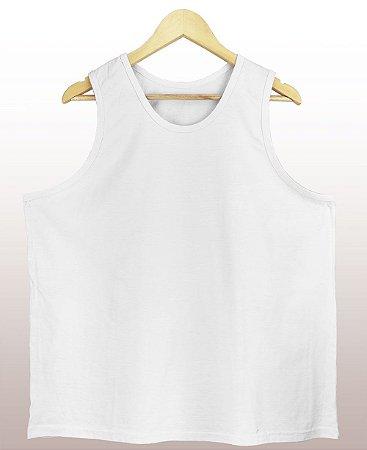 Regata Amaciada Branca - Sendo mais de 20 peças, usar o cupom (5000) para o valor de atacado de R$ 18,90 por depósito.