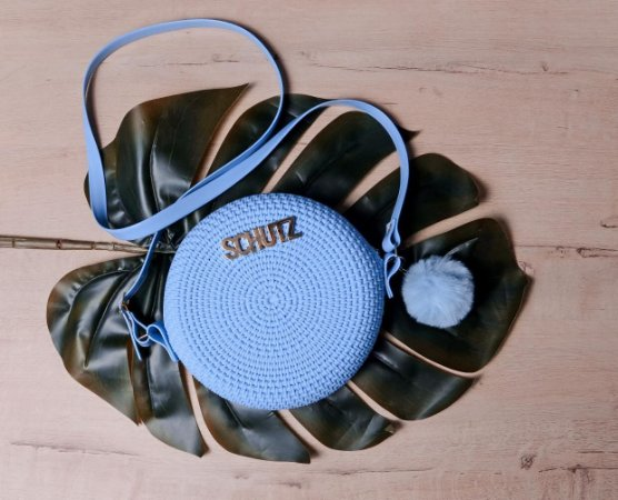 Bolsa Feminina de Ombro Schutz Lançamento Produto EXCLUSIVO -  Azul