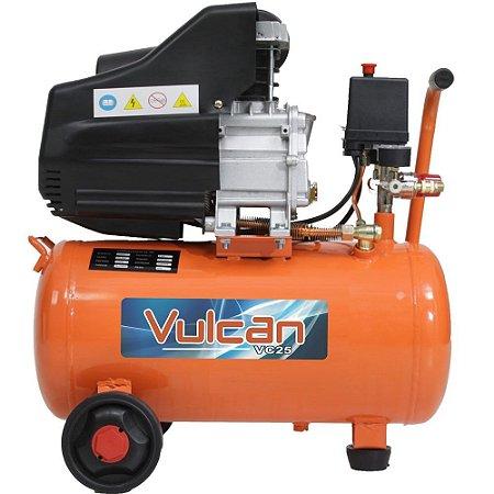 Compressor De Ar 25L 2,5Hp 127V (Vulcan)