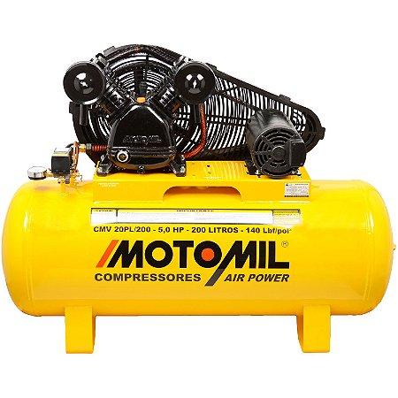 Compressor 20/200L 140Lbs 5Hp Trifásico 220/380V