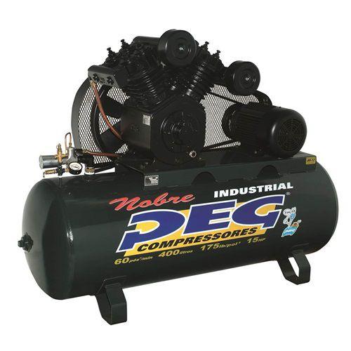 Compressor de Ar 60 Pés 415L Trifásico Alta Pressão PEG
