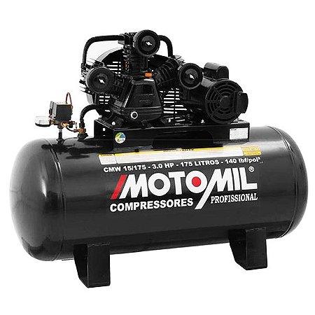 Compressor 15/175L 145Lbs 3Hp Monofásico 220V