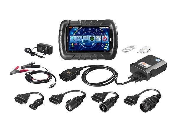 Raven 108800  Scanner 3 (versão com tablet) + Kit Diesel Leve: Equipamento para diagnósticos, ajustes e programações em sistemas de eletrônica embarcada de automóveis, utilitários, caminhões e ônibus.