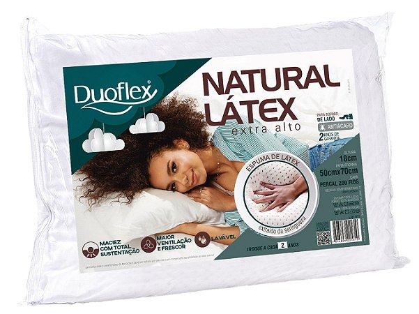 Travesseiro Natural Látex Alto 50X70cm - Duoflex