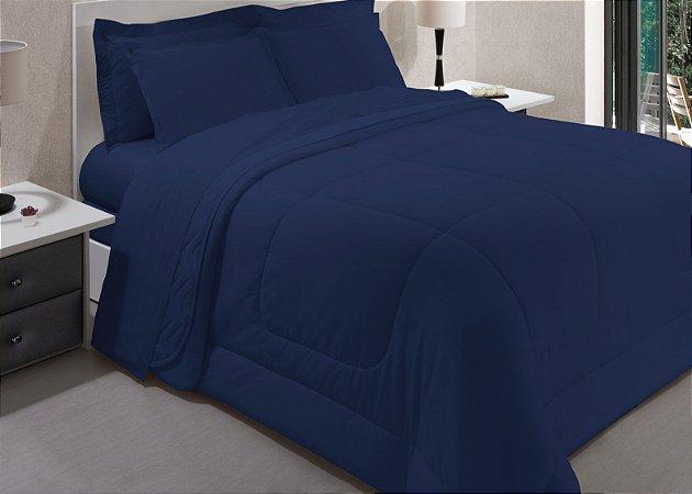 Fronha 160 Fios Innovi Kim Blue 50x70cm - Kacyumara